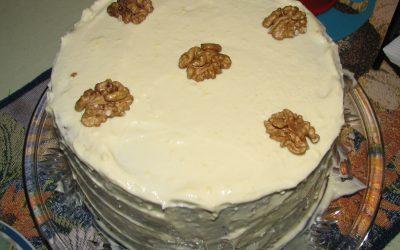 Torta de Zanahoria, Jengibre y Nuez