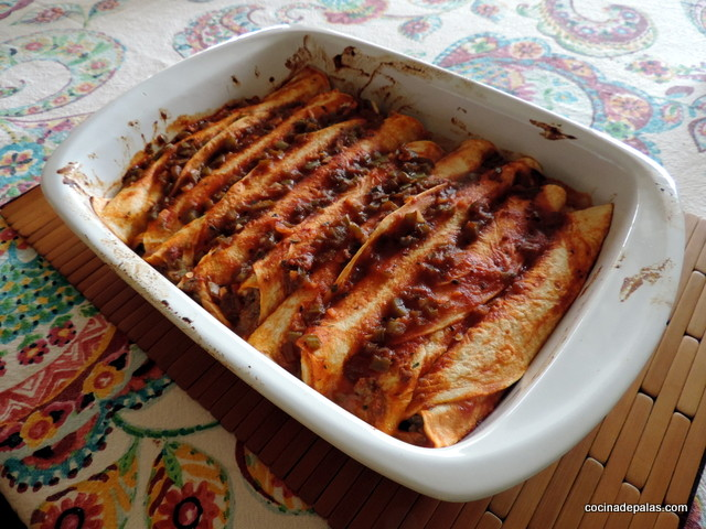 Enchilada de carne