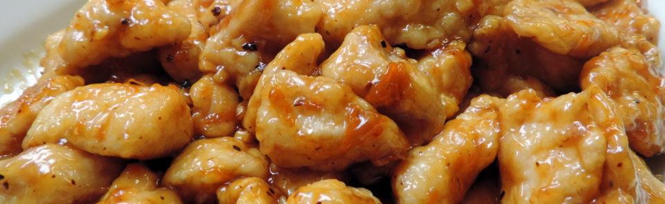 Pollo oriental a la naranja